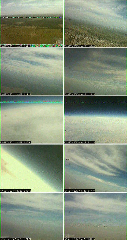 Algunas imagenes recibidas en vivo en SSTV