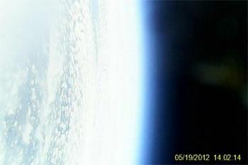 Foto tomada por el globo a 34.000 mts de altura
