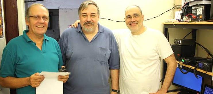 RC QRM: Ricardo, LU4ARU; Roberto, LU7ART y Hugo, LU6ABC