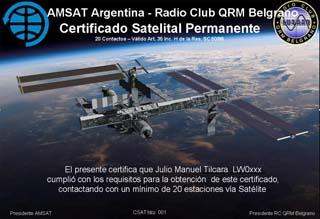 Certificado Satelital